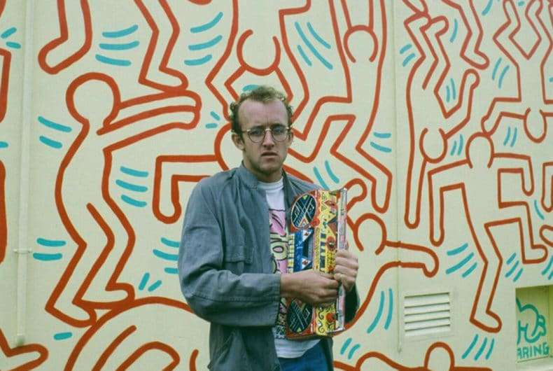 keith haring street art boy