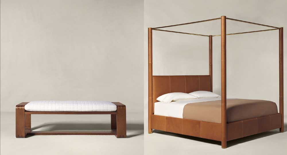 Thayer-Bed-Bench-e-Dalton-Leather-Bed