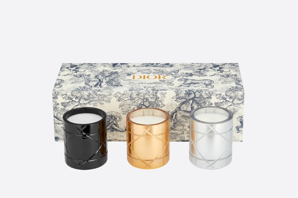 Profumi e candele_Dior-Maison-mini-candele-Cannage